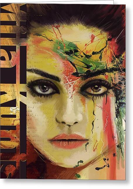 Mila Kunis  Greeting Card by Corporate Art Task Force