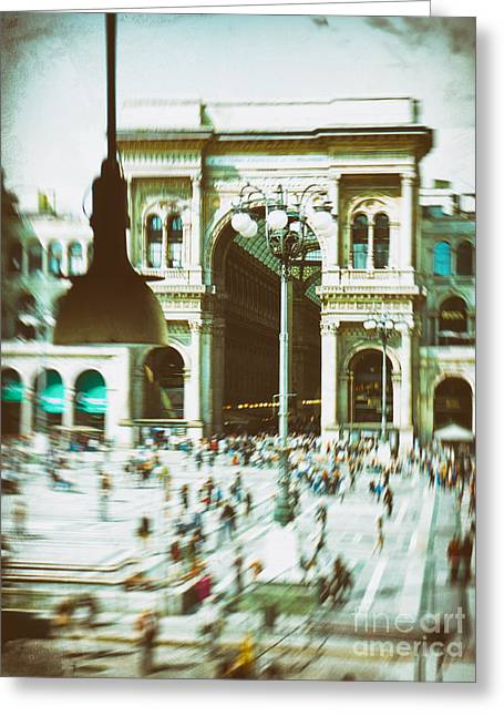 Greeting Card featuring the photograph Milan Gallery by Silvia Ganora