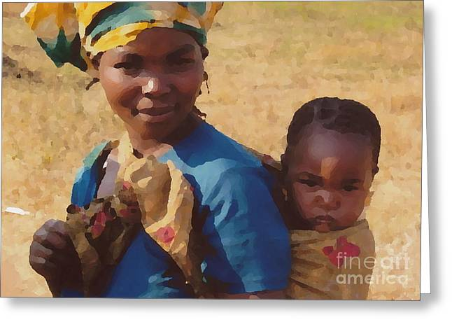 Milawi Mother And Child Greeting Card