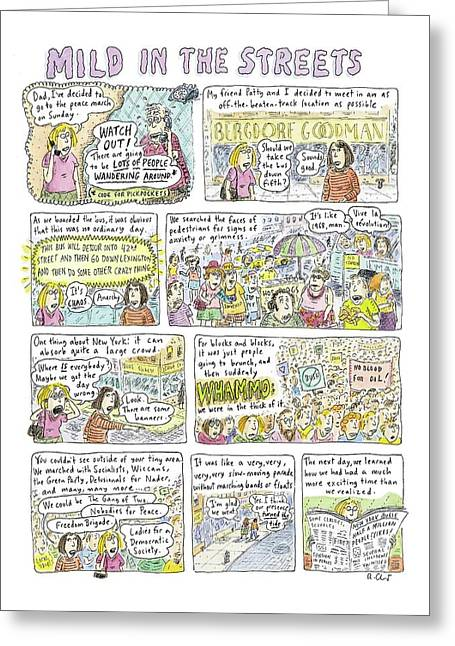 Mild In The Streets Greeting Card by Roz Chast
