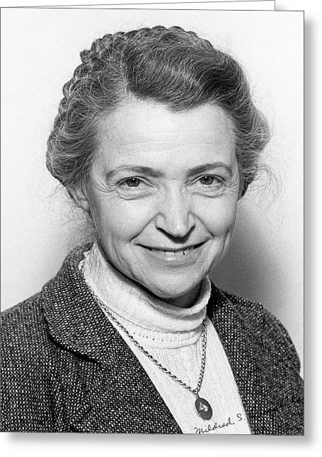 Mildred Dresselhaus Greeting Card by Emilio Segre Visual Archives/american Institute Of Physics