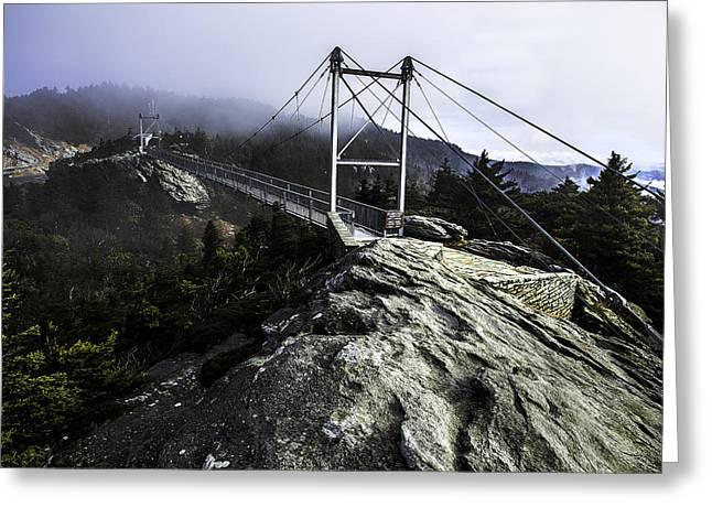 Mile High Bridge-grandfather Mountain Greeting Card