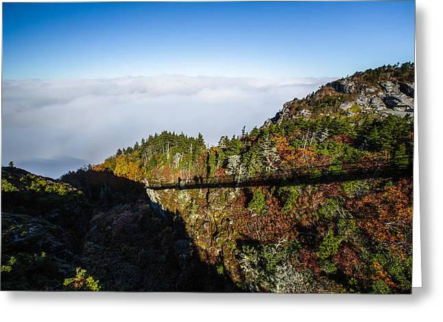 Mile High Bridge Greeting Card by John Haldane