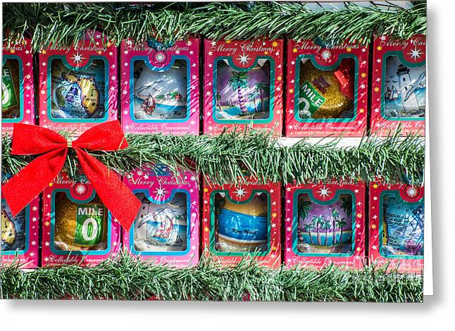 Mile Marker 0 Christmas Decorations Key West 4  Greeting Card by Ian Monk