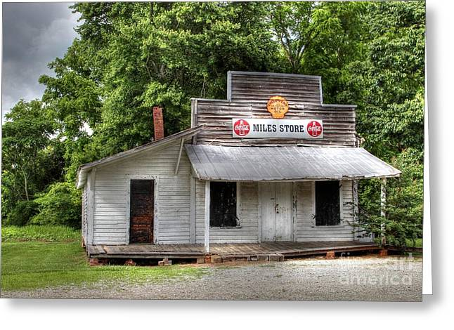 Miles Country Store Greeting Card by Benanne Stiens