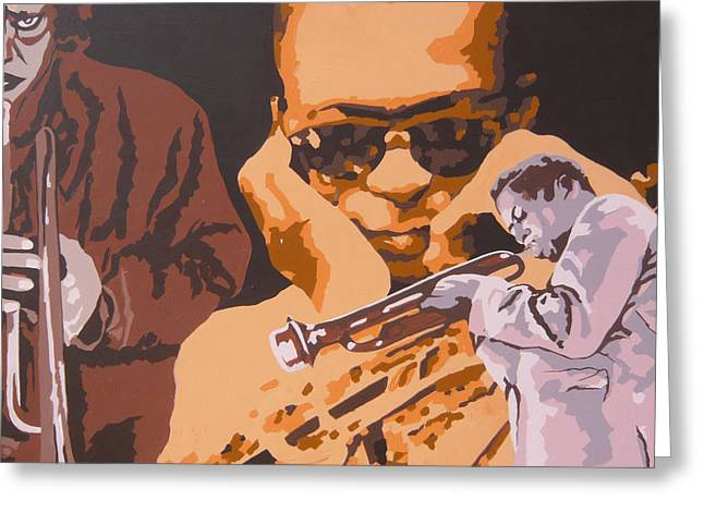 Miles Davis I Greeting Card by Ronald Young