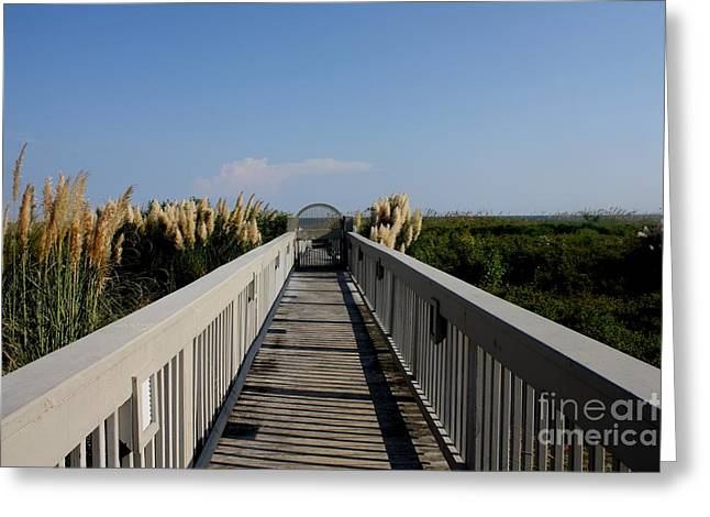 Miles Of Boardwalk Greeting Card by Michael Grubb