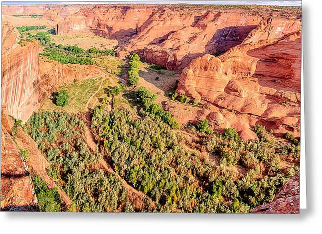 Miles To Go In Canyon De Chelly Greeting Card by Bob and Nadine Johnston