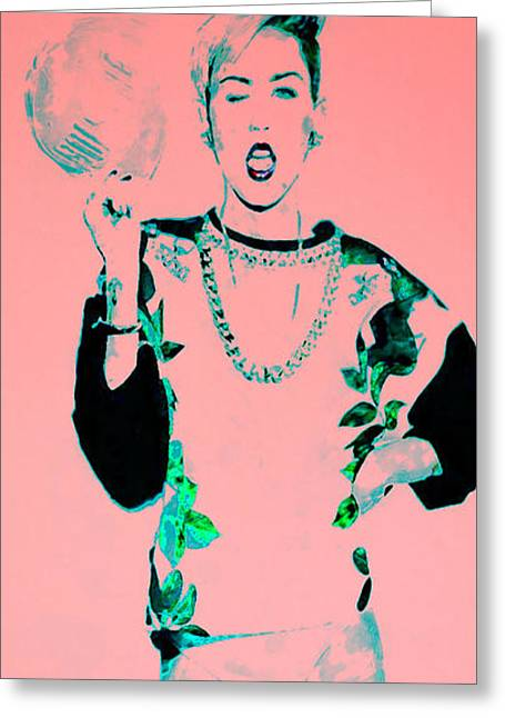 Miley 1 Greeting Card by Brian Reaves