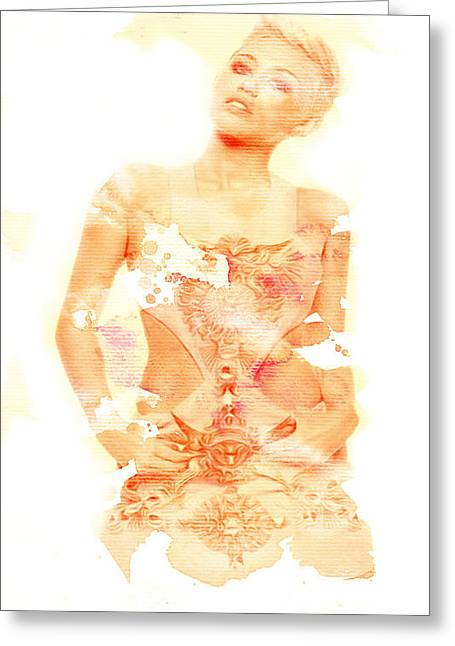 Greeting Card featuring the digital art Miley by Brian Reaves