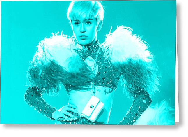 Miley Cyrus Do My Thang Greeting Card by Brian Reaves