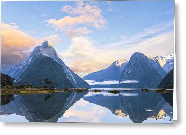 Milford Sound New Zealand Greeting Card