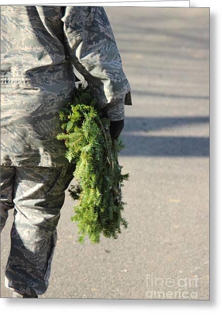 Military Christmas  Greeting Card by Tom Gari Gallery-Three-Photography
