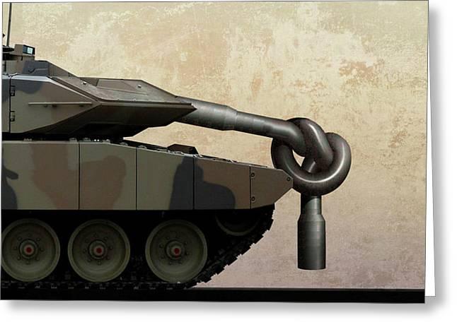 Military Disarmament Greeting Card by Smetek