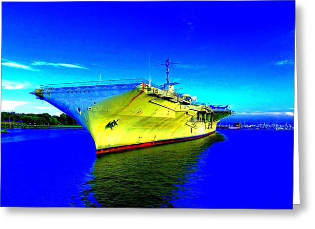 Military Ship 2 Greeting Card by Ron Kandt
