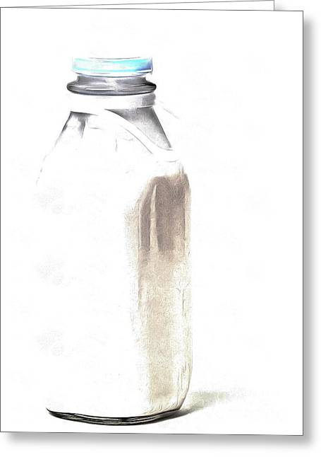 Milk Bottle Greeting Card