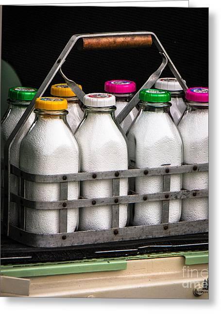 Milk Bottles Greeting Card