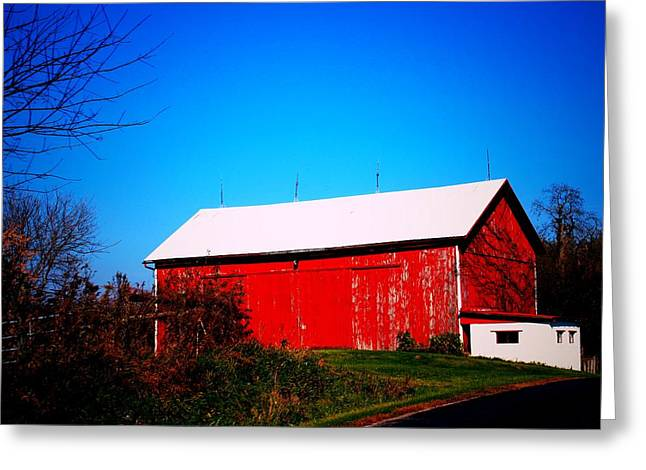 Milk House And Barn Greeting Card