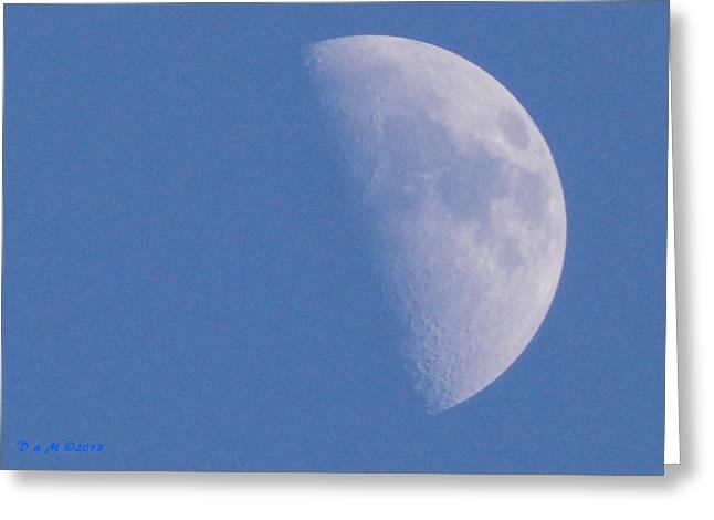 Greeting Card featuring the photograph Milk Moon  by Deborah Moen