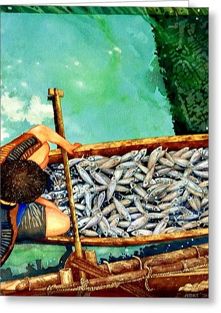Milkfish Harvest Vers1 Greeting Card