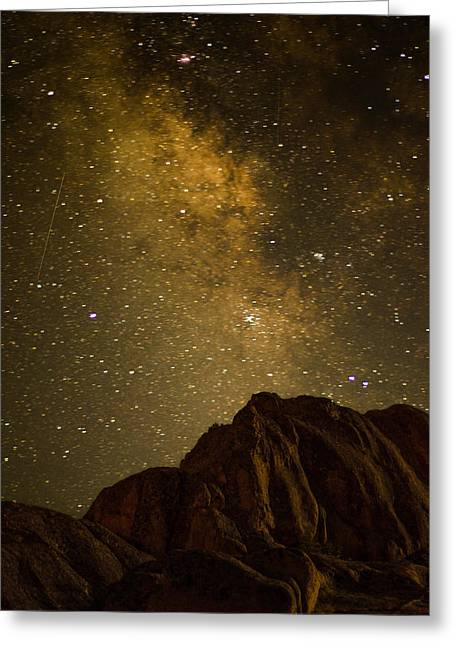 Milky Sky Greeting Card by Mike Schmidt