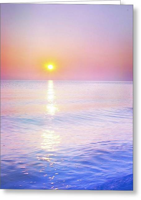 Greeting Card featuring the photograph Milky Sunset by Lilia D