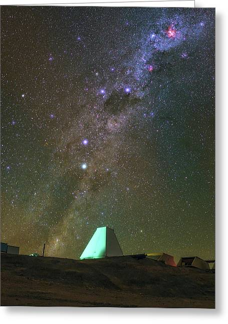 Milky Way And Observatory Greeting Card