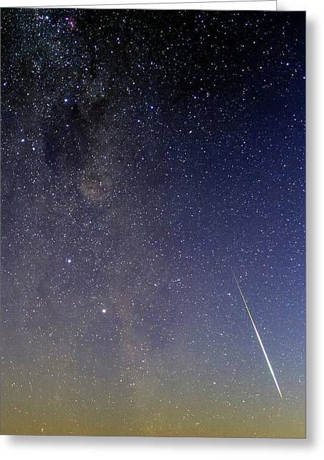 Milky Way And Shooting Star Greeting Card
