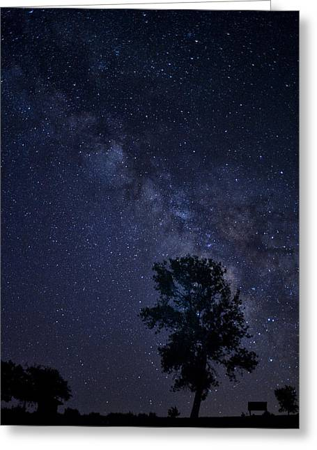 Best Sellers Greeting Cards - Milky Way and Silhouette Greeting Card by Melany Sarafis
