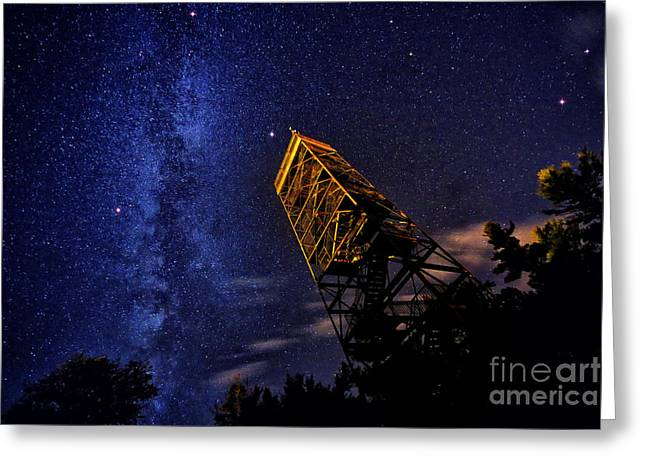 Milky Way And Summer Triangle Greeting Card by Charline Xia