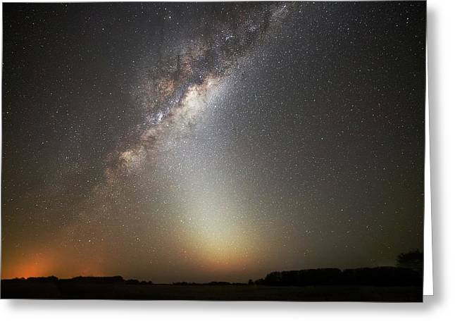 Milky Way And Zodiacal Light Greeting Card