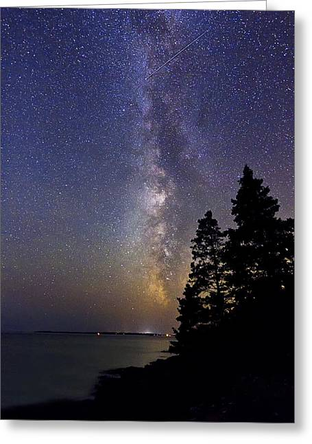 Milky Way At Acadia National Park Greeting Card
