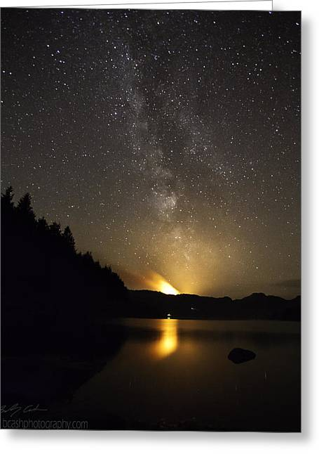 Milky Way At Crafnant 2 Greeting Card by Beverly Cash