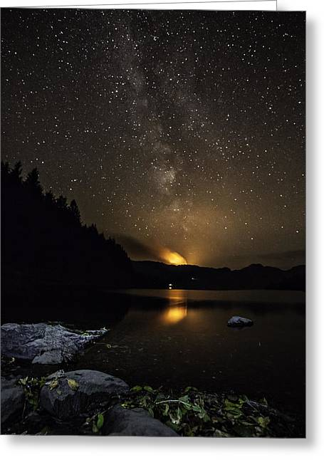 Milky Way At Crafnant Greeting Card by Beverly Cash