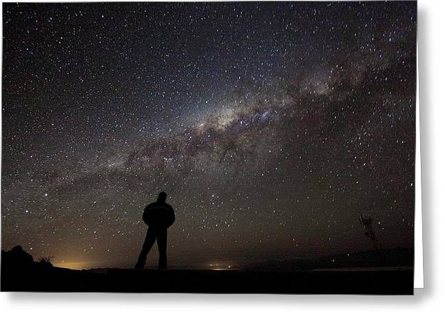 Milky Way From La Silla Greeting Card by Eso/a. Fitzsimmons