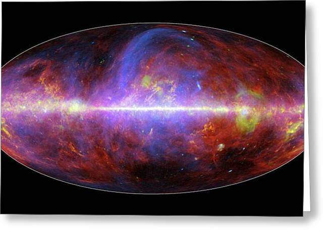 Milky Way Galaxy Greeting Card by European Space Agency/nasa/jpl-caltech