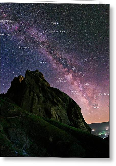 Milky Way Over Alamut Greeting Card by Babak Tafreshi