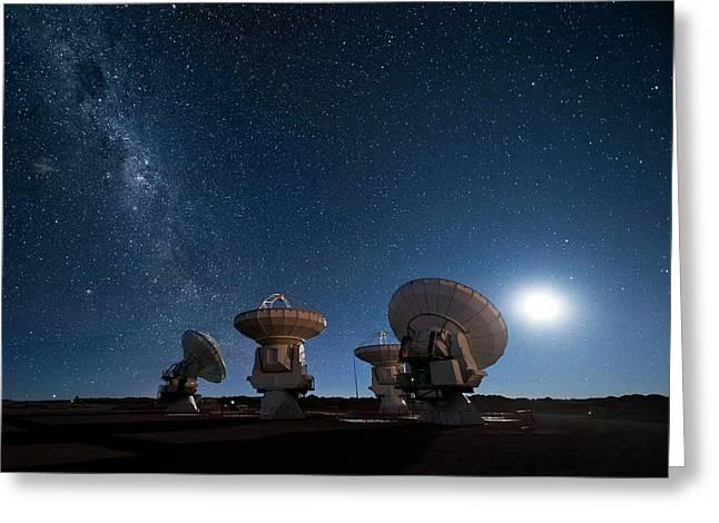 Milky Way Over Alma Antennas Greeting Card