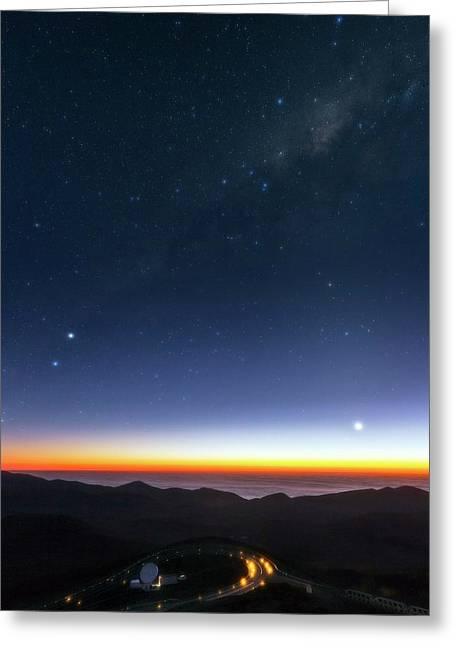 Milky Way Over Cerro Paranal Observatory Greeting Card by Babak Tafreshi