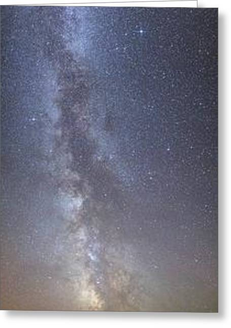Milky Way Over Coast Greeting Card by Laurent Laveder