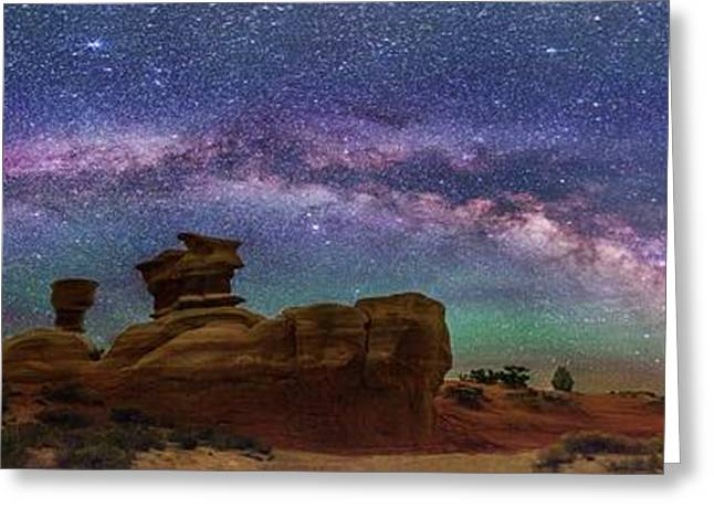 Milky Way Over Devil's Garden Greeting Card by Walter Pacholka, Astropics