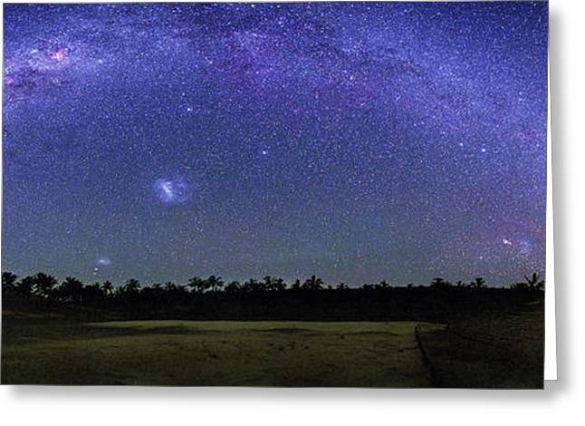 Milky Way Over Easter Island Greeting Card by Walter Pacholka, Astropics