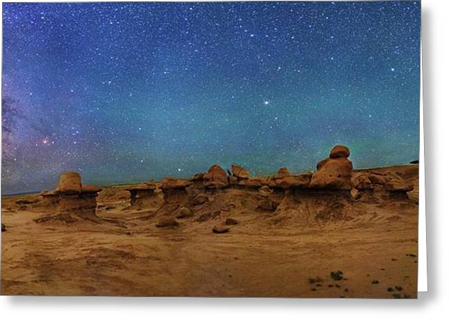 Milky Way Over Goblin Valley Greeting Card by Walter Pacholka, Astropics