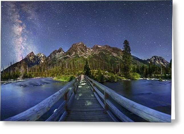 Milky Way Over Grand Teton National Park Greeting Card