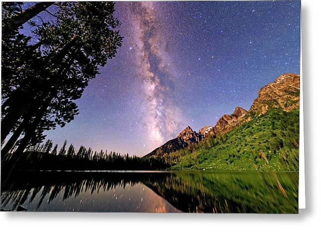 Milky Way Over Grand Teton Park Greeting Card
