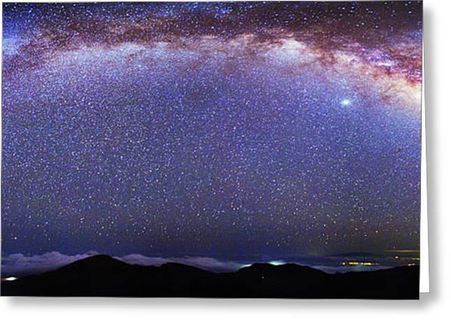 Milky Way Over Haleakala National Park Greeting Card