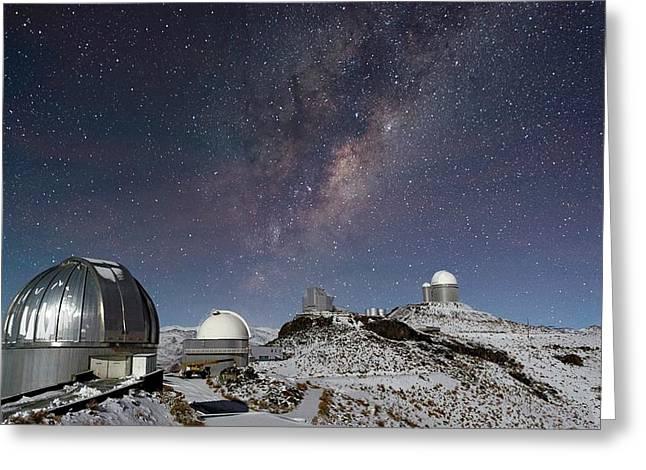 Milky Way Over La Silla Observatory Greeting Card by Eso/jose Francisco Salgado (josefrancisco.org)