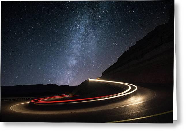 Milky Way Over Mitzpe Ramon Greeting Card
