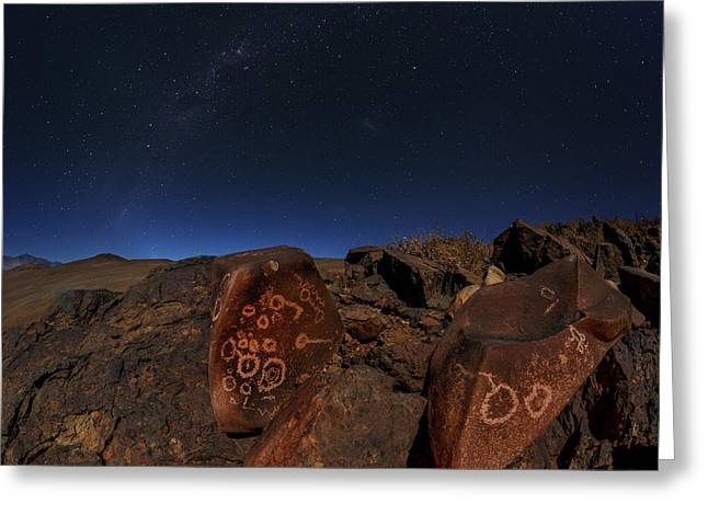 Milky Way Over Petroglyphs Greeting Card