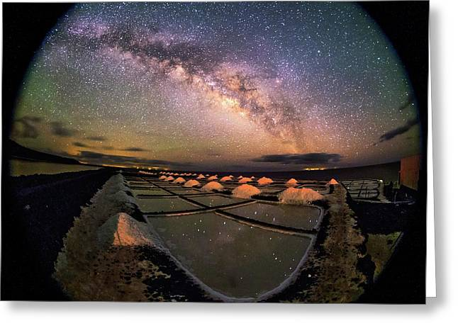 Milky Way Over Salt Pans Greeting Card